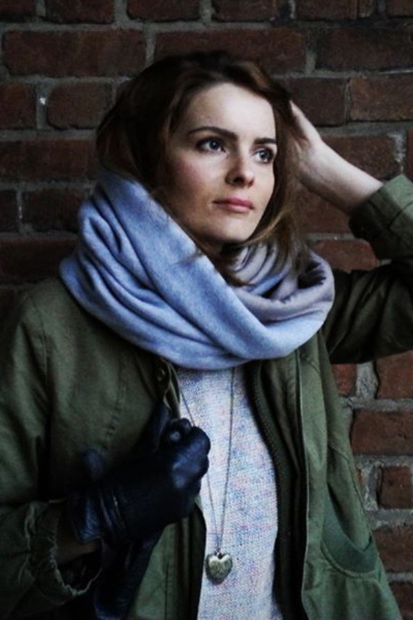 scarf knit knitwear grey grey soft warm thick urban beige cute girly comfy comfy MINTFIELDS cute outfits