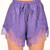 Lucky Penny Lace Shorts in Purple | Foxx Foe