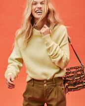 sweater,yellow sweater