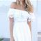 White off shoulder crochet casual dress