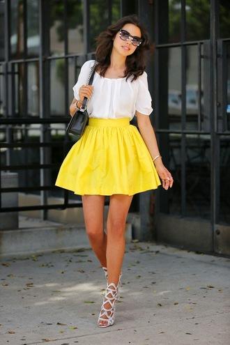 viva luxury skirt t-shirt shoes bag sunglasses nail polish cardigan