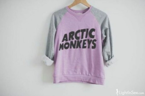 arctic monkeys pink jumper sweater grey