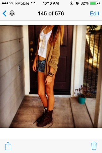 shoes brown combat boots acacia brinley sweater