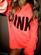 pink,sweater,victoria's secret,pink by victorias secret
