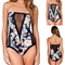 Floral mesh push-up one piece strapless swimsuit - black · fashion struck · online store powered by storenvy