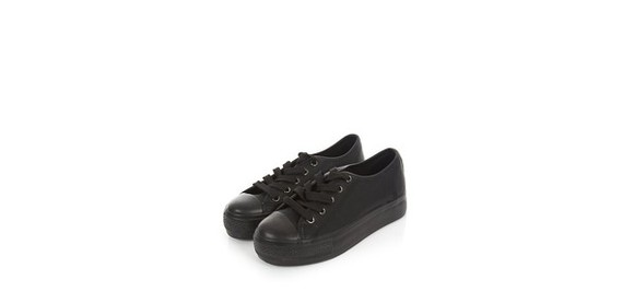 shoes platform shoes platform flatforms flatform shoes sneakers trainers flatform black shoes black trainers black sneakers black flatforms new look