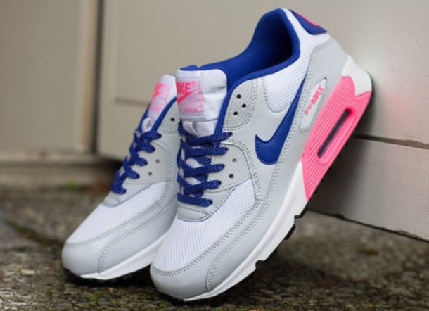 nike air max 90 pink blue white
