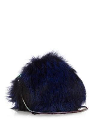 fur fox love bag blue