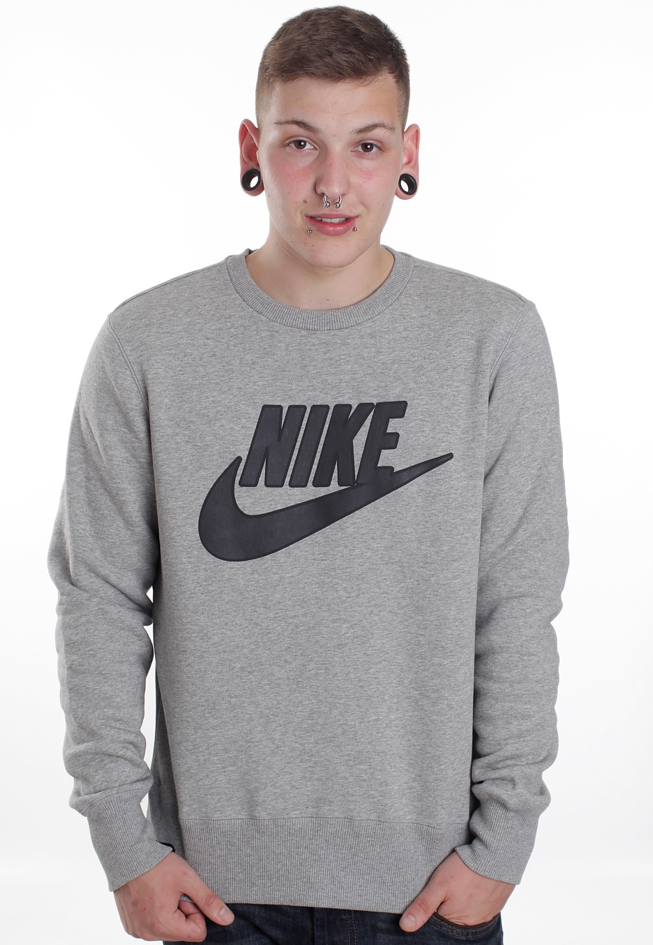 Nike - Brushed Dark Grey Heather - Sweater - Streetwear Online Shop - Impericon.com Worldwide