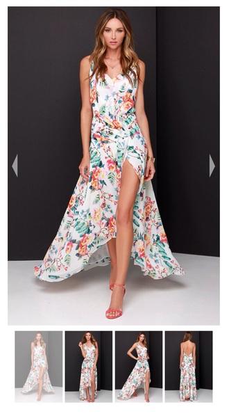 dress maxi dress summer dress floral dress high low dress floral maxi dress