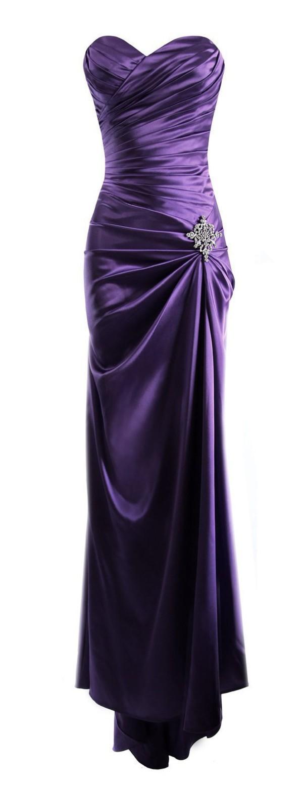 Amazon.com: EnjoyBuys Strapless Long Satin Prom Dress ... - photo #32