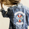 Visionary baby vintage levis jacket - hand painted one piece - ρουχα