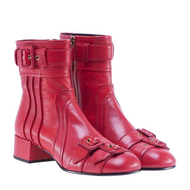 Prada red shoes