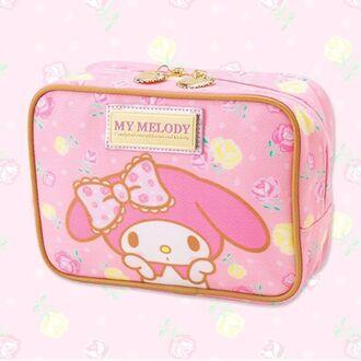 bag my melody kawaii cute makeup bag clutch zipper pink kawaii bag