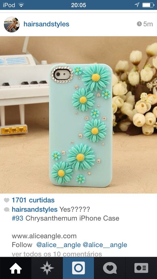 phone cover flowers blue phone cover blue phone case