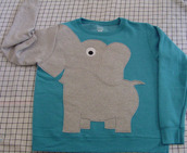 sweater,jumper,blue,grey,elephant,trunk