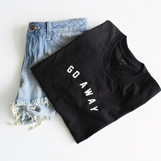 t-shirt nyct clothing go away graphic tee summer outfits summer ootd ootd top ootd