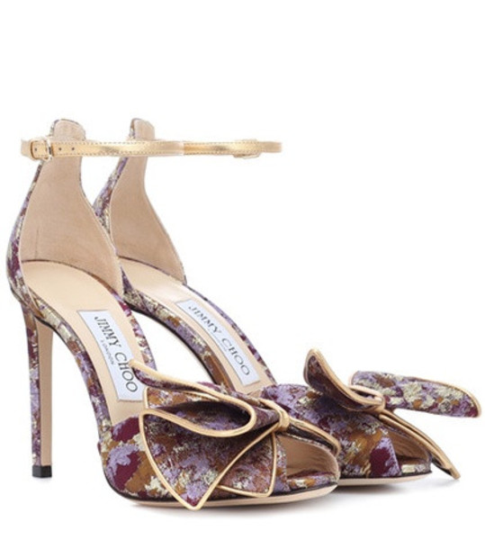 Jimmy Choo Karlotta 100 brocade sandals in purple