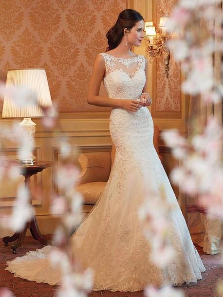 dress wedding dress white dress lace dress