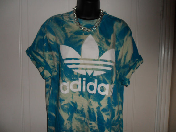 unisex customised adidas acid wash tie dye t by mysticclothing