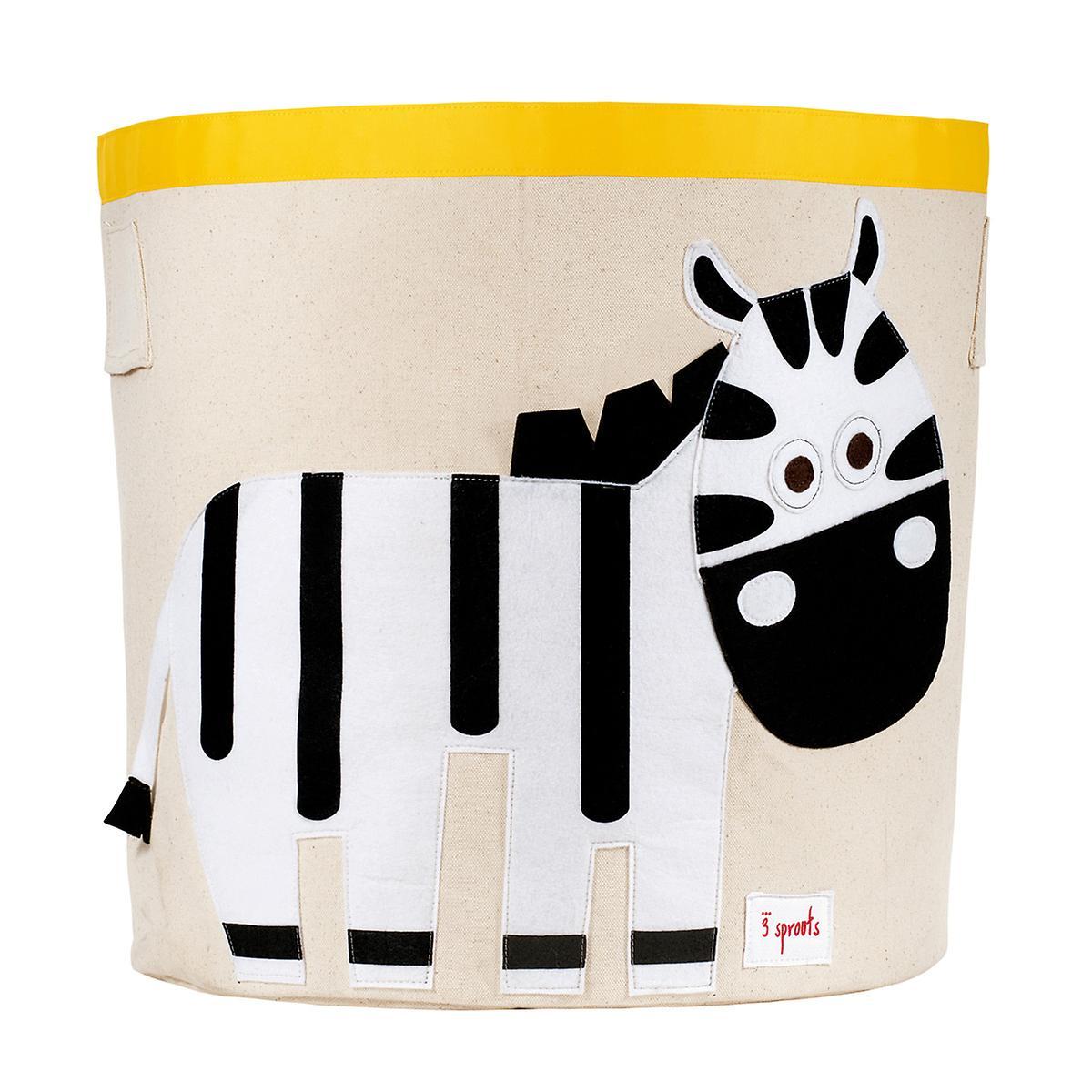 3 Sprouts Zebra Canvas Toy Storage Bin