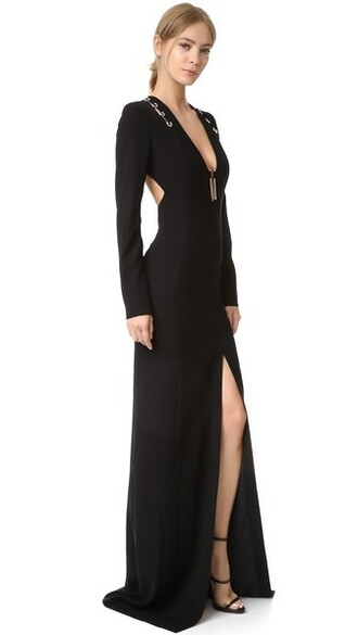 gown long black dress