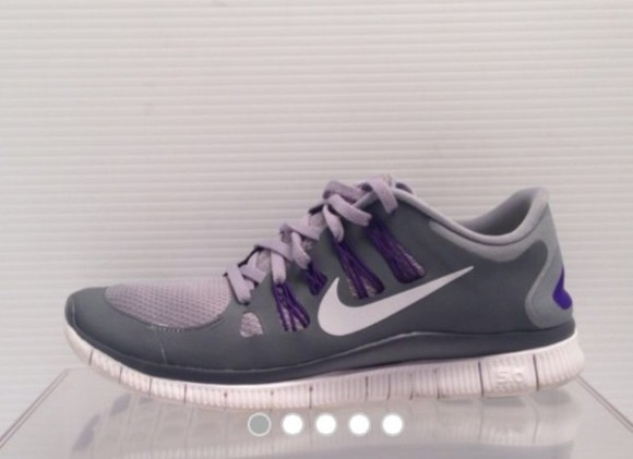 shoes grey nike 5.0 purple flywire