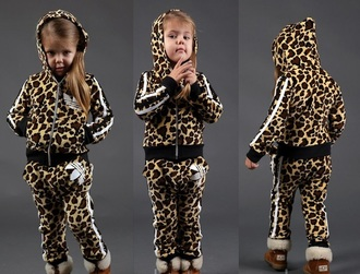 sweater jacket hoodie pants sweatpants sportswear jumpsuit kids fashion adidas tracksuit cool girl style leopard print longsleeve baby clothing children wear ugg boots