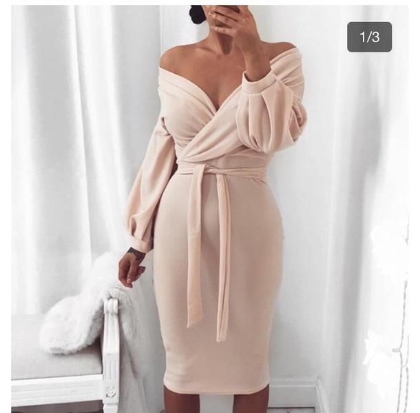 dress pink dress off the shoulder dress