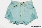 shorts,cut offs,high waisted,levi's,blue,High waisted shorts