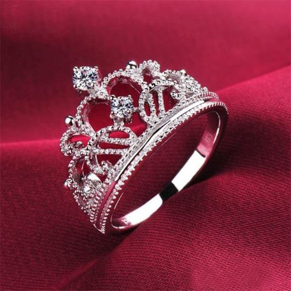 jewels sterling silver ring tiara crown diamonds accessory