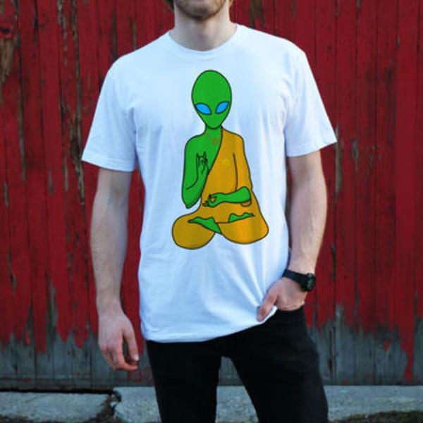 t-shirt graphic tee alien shirt alien white t-shirt