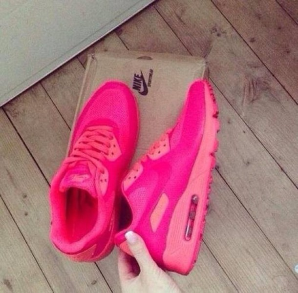 ... nike air max 90 2013 knitting all pink womens shoes