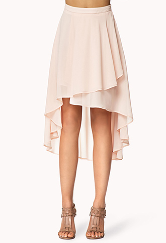 tiered high low skirt forever21 2054523767