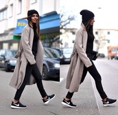 coat,ootd,beige,trench coat,long coat,boyfriend coat,beige dress,jacket,shoes,grey coat,cardigan,wool coat,winter coat,warm,burberry,zara jacket,beige jacket,trench jacket,waist belt,black,nike black,nike running shoes,nike shoes,nike shoes womens roshe runs,nike roshe run,black shoes,black and white shoes,nike,roshe runs,casual,tennis shoes,oversized sweater,oversized cardigan,oversized,beanie,black and white,running shoes,christmas sweater,skinny jeans,skinny pants,black jeans,long,bag,swag