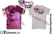 shirt,finessin,t-shirt,hip hop,rapper,gucci mane,guwop,pink,clothes,stars,stars and stripes