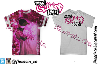 shirt finessin t-shirt hiphop rapper gucci gucci mane guwop pink clothes stars stars and stripes