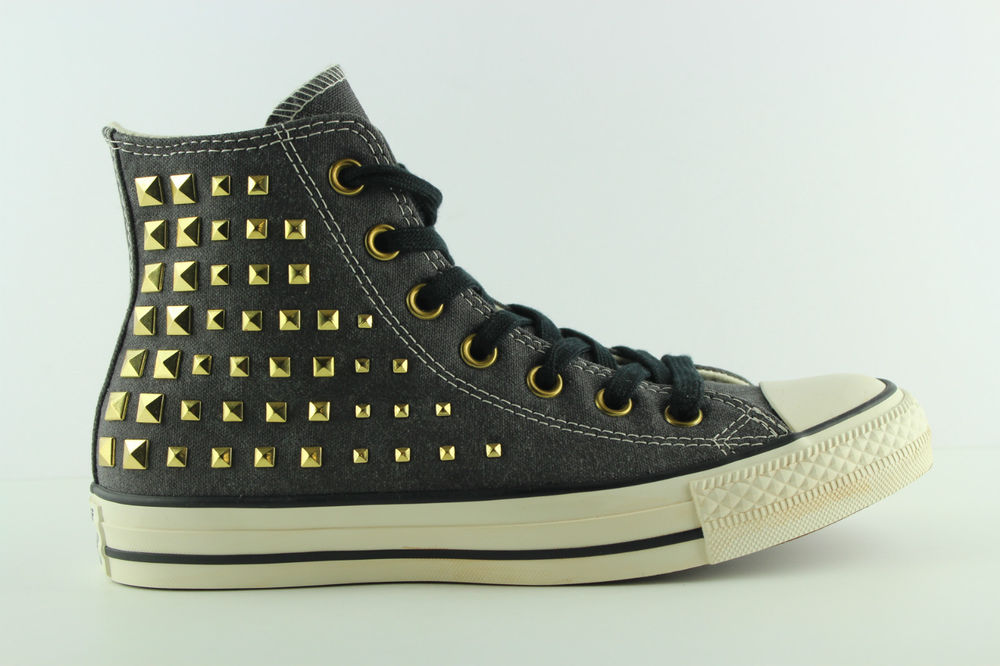 [OK219] Converse All Star Collar Studs Hi Nieten Schwarz Gr 37,5 UK 5 540366C | eBay