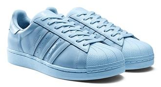 shoes adidas adidas superstars blue blue light