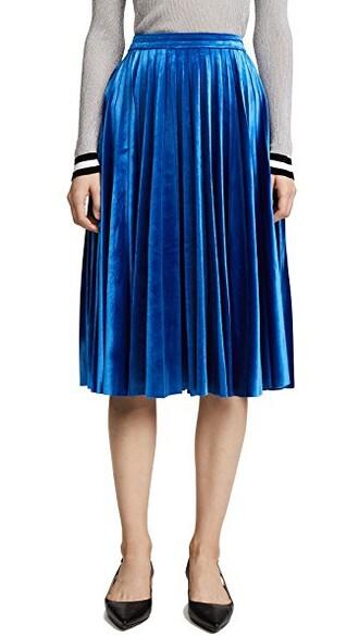 skirt velvet skirt pleated velvet