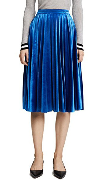 Endless Rose skirt velvet skirt pleated velvet