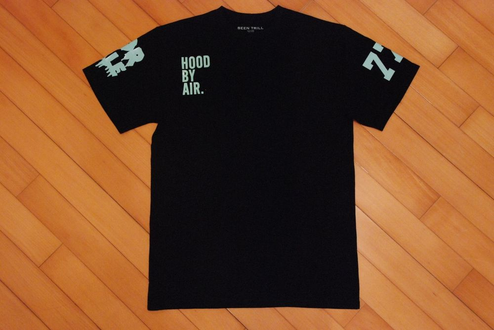 Authentic hba hood by air been trill kanye west pyrex black green tee m