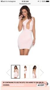 dress,blush,small,sexy dress,party dress,white dress,bodycon dress,baby pink,light pink,jersey dress,evening dress