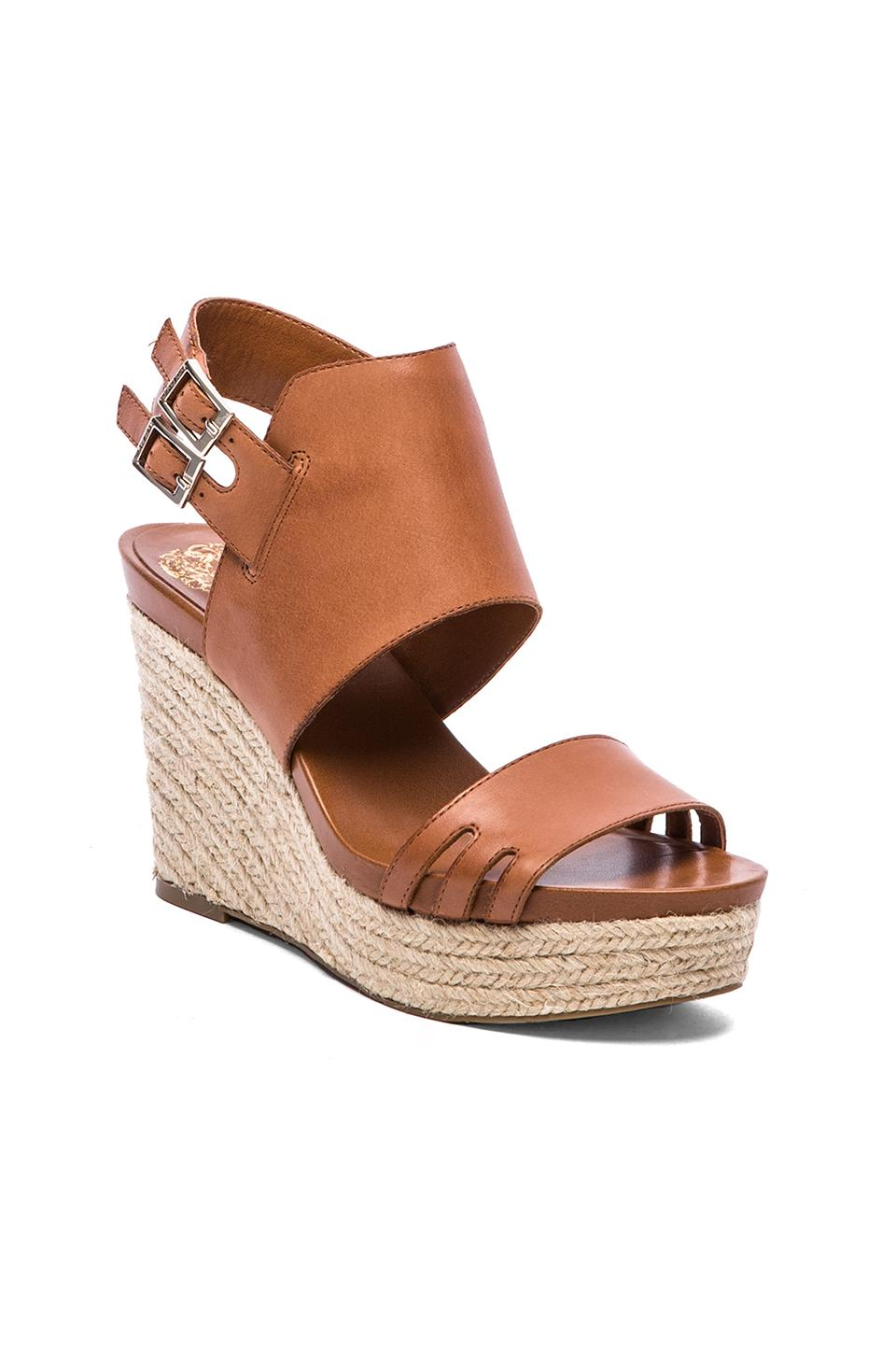 Vince Camuto Temperton Wedge in Fudge/Natural from REVOLVEclothing.com