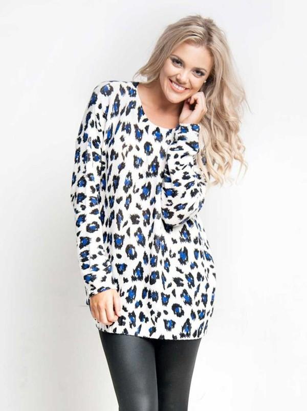 ustrendy ustrendy sweater leopard print