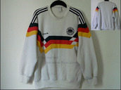 world cup 1990,old school,west germany,germany,vintage,adidas,world cup,vintage pullover,white sweater