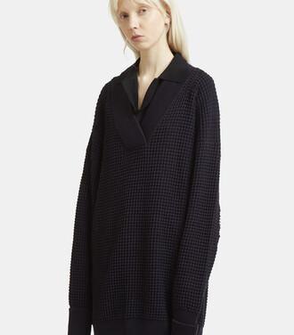 jumper oversized navy sweater