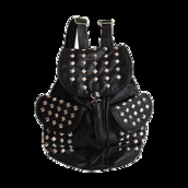 bag,studded,leather,black,backpack