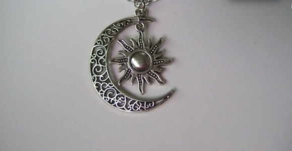 jewels sun moon sun and moon style necklace sun and moon necklace trendy necklace
