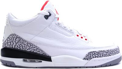 Air Jordan III White/Cement Grey - NiceKicks.com